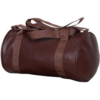 Brown Leatherite Gym Bag