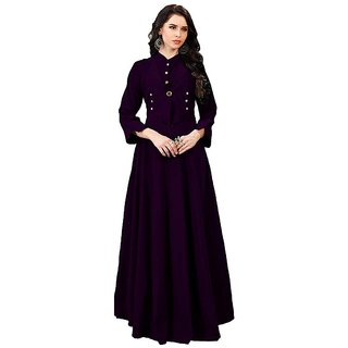 sat creation Women's tafeta silk Anarkali Style Gown full stich (m to xxl)