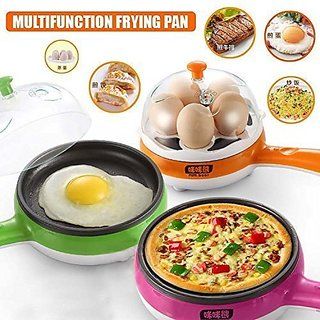 Multifunctional Electric 2 in 1 frying pan with Egg Boiler