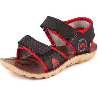 Genial Boys Velcro Sports Sandals(HOWK-2 BK)