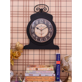 Home Sparkle Vintage Style Wall Clock Suitable For Bedroom/Living Room Dcor/Gifting Purpose( Black )