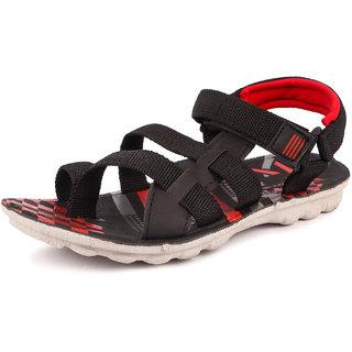 Genial Boys Velcro Sports Sandals(CHILL-2 BLK)