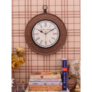 Home Sparkle Vintage Style Wall Clock Suitable For Bedroom/Living Room Dcor/Gifting Purpose( Copper )