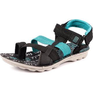 Genial Boys Velcro Sports Sandals (CHILL-6 BLK)