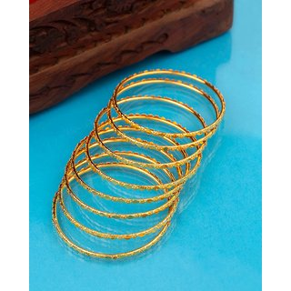 Voylla Eastern Delight Yellow Gold Plated Bangles