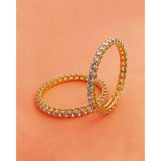 Voylla CZ Gems Embellished Brass Bangles