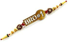 No. 1 Bro Rakhi Raksha Bandhan Gift Band Moli Bracelet Wristbands for Men/Boys  Latest Rakhi for Brother Sister Love