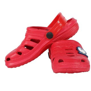 Shishu Kids Unisex Doraemon Style Clogs(Red)