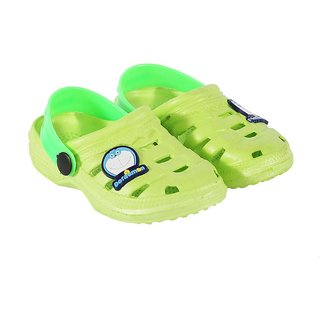 Shishu Kids Unisex Doraemon Style Clogs(Green)