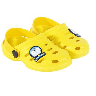 Shishu Kids Unisex Doraemon Style Clogs(Yellow)