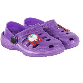 Shishu Kids Unisex Doraemon Style Clogs(Purple)