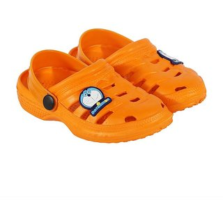 Shishu Kids Unisex Doraemon Style Clogs(Orange)