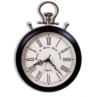 Home Sparkle Vintage Style pocket watch Suitable For Bedroom/Living Room Dcor/Gifting Purpose( Black )