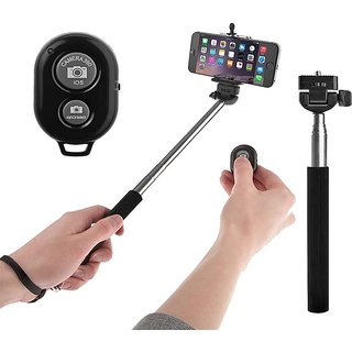 Selfie Rod with Bluetooth Remote, Selfie Stick for Android,iPhone