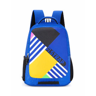 2STRAP Unisex Jumble Blue-Yellow Laptop Backpack Bag