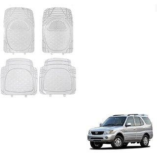 Auto Addict Car Rubber PVC Car Mat 6204 Foot Mats Clear Color Set of 4 pcs For Tata Safari