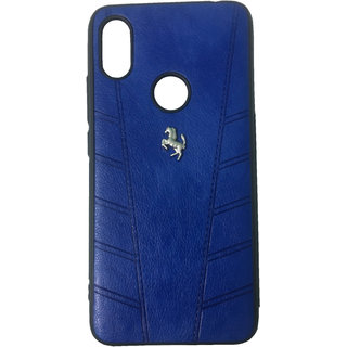 Ji Mobi Deals Leather Mobile Back Cover for Redmi Y2(Navy blue in Color)