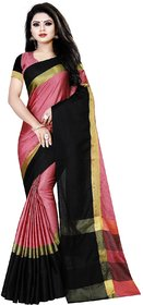 Aika Women's Cotton Silk Woven Saree (AURA SAREE PEACH)