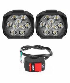 9 LED Bike Fog light - Set of 2 (Switch Free)