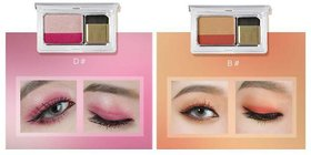 Me Now Generation II Quick  Easy Gradient Color Double Tone Mini Eyeshadow Palette #D,B