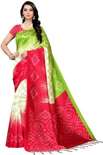 Style Founder Collection Mysore Silk Multicolor Printed Saree With Jhalor