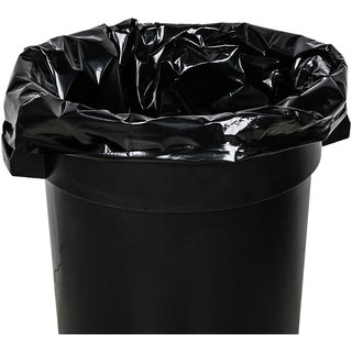 Disposable Garbage Bags / Dust Bin Bags 90 Pieces Black (19X21 Inch)