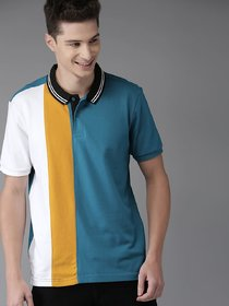 Stylogue Multicolor Polo Neck T-Shirt For Men
