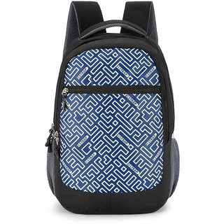 2STRAP Cosmos Black Blue Laptop Backpack Bag
