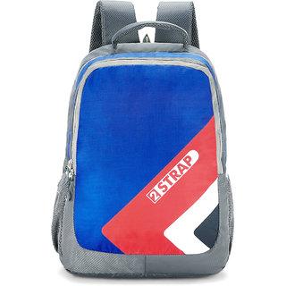 2STRAP Unisex Rugger Blue Grey Laptop Backpack Bag