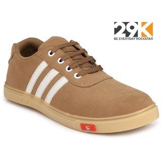 buy 29k men's beige suede lace up casual shoes online