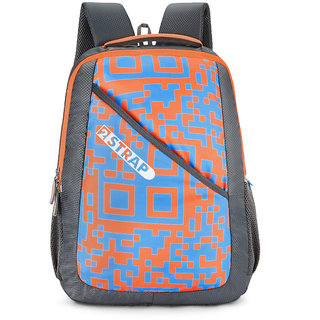 2STRAP Unisex Pixel Grey Blue Laptop Backpack Bag