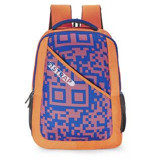 2STRAP Unisex Pixel Blue Orange Laptop Backpack Bag