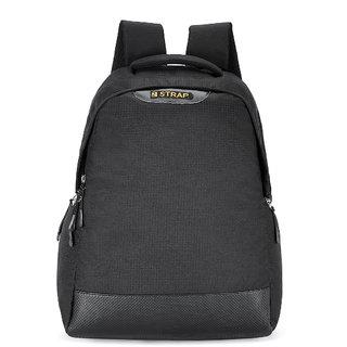2STRAP Unisex Aster Black Laptop Backpack Bag