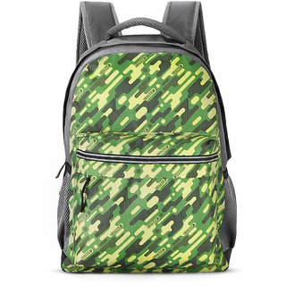2STRAP Unisex Commando Olive Grey Laptop Backpack Bag