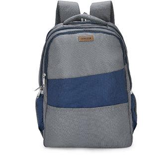 2STRAP Unisex Coral Grey Navy Laptop Backpack Bag