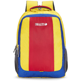 2STRAP Unisex Compass Yellow Red Laptop Backpack Bag