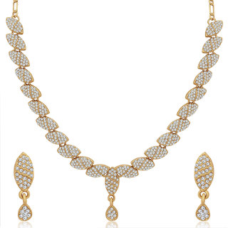 Sukkhi Exquisite Mehandi Gold Plated Necklace Set for Women