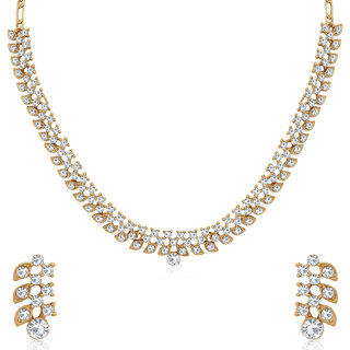 Sukkhi Exotic Mehandi Gold Plated Necklace Set for Women