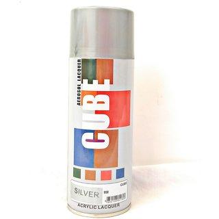 Multimood CUBE Silver Aerosol Spray Paint Multipurpose Use