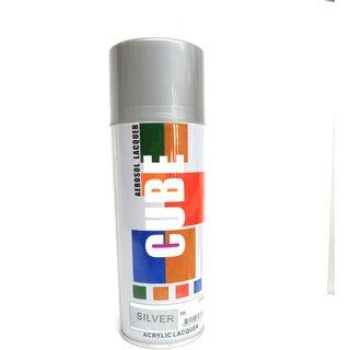 Multimood CUBE Silver Aerosol Spray Paint Multipurpose Use (600 ml)