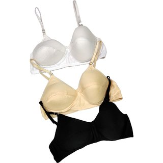 Soft Padded Bra Pack of 3 / Superior Quality / Multicolor