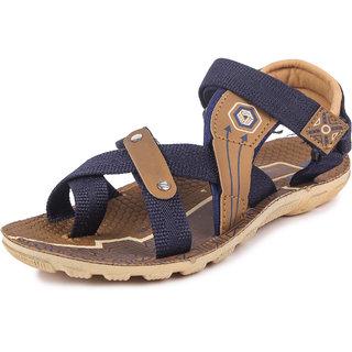 Genial Boys Velcro Sports Sandals(ROYAL-2 BLUE MOUSE)