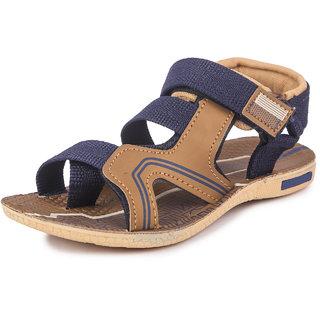 Genial Boys Velcro Sports Sandals (JAGUAR BLUE MOUSE)