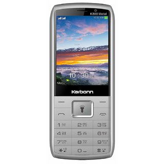 KARBONN K888 METAL DUAL SIM PHONE WITH BIG BATTERYCAMERA/FM/TORCH/AUTO CALL RECORDER/MULTI LANGUAGE AND MOBILE TRACKER