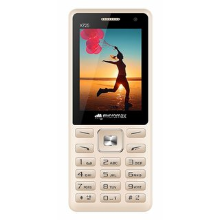 MICROMAX X725 DUAL SIM MOBILE WITH DUAL CAMERA/FM WITH RECORDING/AUTO CALL RECORDER/MULTI LANGUAGE SUPPORT