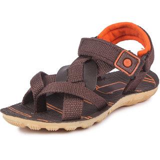 Genial Boys Velcro Sports Sandals (CLASSIC BRN ORNG)