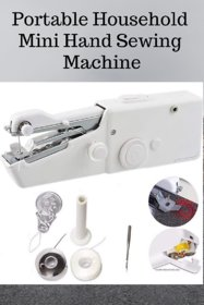 HY Touch White Portable and Cordless Hand Stitch Sewing Machine