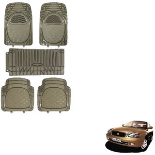 Auto Addict Car Rubber PVC Car Mat 6205 Foot Mats Smoke Color Set of 5 pcs For Maruti Suzuki Baleno