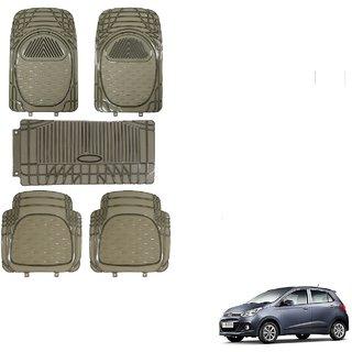 Auto Addict Car Rubber PVC Car Mat 6205 Foot Mats Smoke Color Set of 5 pcs For Hyundai Grand i10