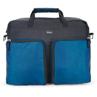 2STRAP Unisex Palatial Black Teal Laptop Messenger Office Bag